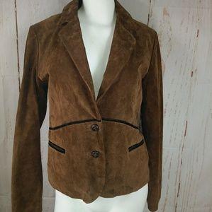 Western Wilsons Leather brown suede blazer jacket
